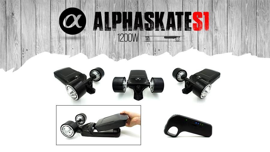 Dispositif pour électrifier n'importe quelle planche de skate, puissance de 1000W ALPHA SKATE