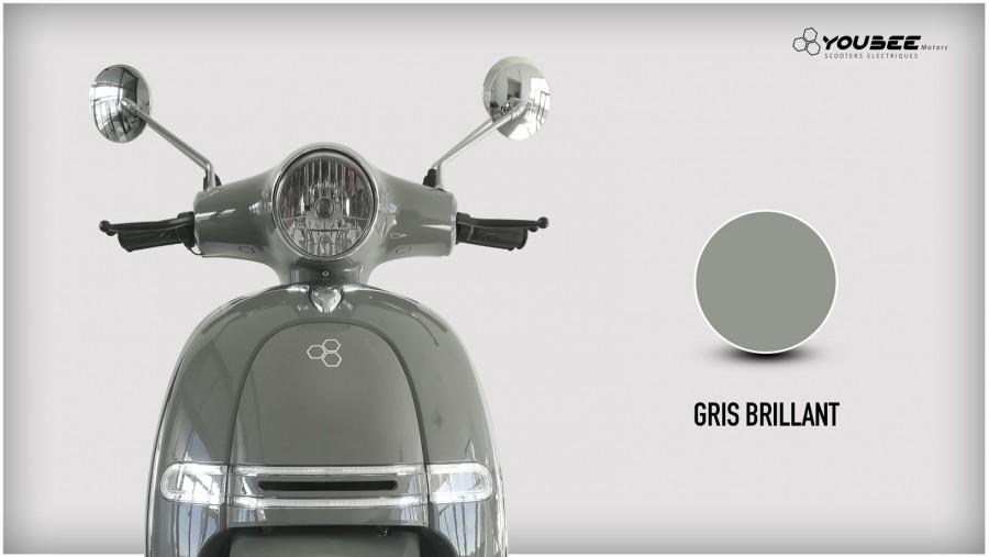 Scooter électrique YOUBEE MOTORS HERITAGE 125 GRIS