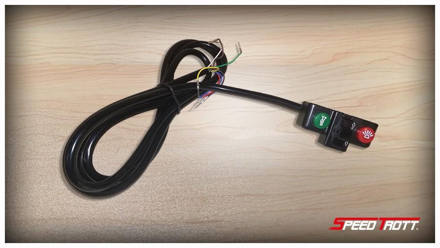 Commodo d'éclairage pour trottinette électrique SPEEDTROTT ST16